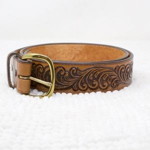 Justin Leather Belt Buckle Snap Size 35